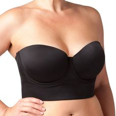 4c19f9b688 Plus Size Maidenform Bra  Pure Genius Stay Up Strapless Convertible... ( 60