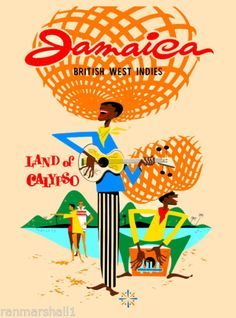 Jamaica-Caribbean-Islands-Jamaican-Vintage-Travel-Advertisement-Art-Poster