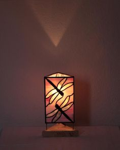 "Our stained glass tiffany style table lamp: ""Dragonfly"" www.mana-glaskunst.de"