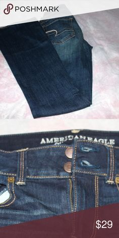 American Eagle Jeans American Eagle Jeans - Artist Cut  - Size 4 Dark Wash American Eagle Outfitters Jeans