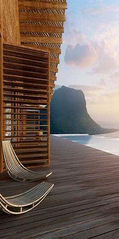 Wood deck ~sea