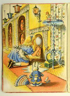 1960 Kubasta pop up Alice In Wonderland book