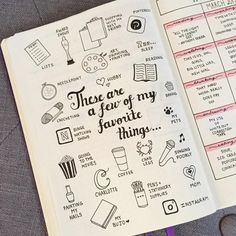 """628 Likes, 16 Comments - BuJo_Blossoms (@bujo_blossoms) on Instagram: """"These are a few of my favorite things! I made this mostly because I've always wanted to, and…"""""""