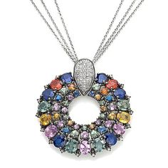 "Colleen Lopez Gem/Diamond ""Bright & Brilliant"" Pendant"