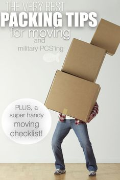 The Best Packing Tips for Moving , Getting ready to move? These packing tips for moving and our digital/printable moving checklist is such a helpful moving resource