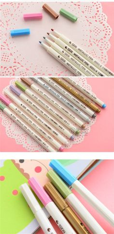 Aliexpress.com : Buy 10 colors/Lot STA Metallic pen for Black paper Cup Glass Art supplies marker Scrapbooking tools Stationery School brushes 6543 from Reliable Art Markers suppliers on V&P Home Beauty Co.,Ltd | Alibaba Group