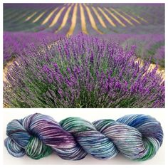 Speckled purple, green, and blue dyed on one of my most popular yarn bases, worsted weight superwash merino. :-) LAVENDER FIELD $26.75