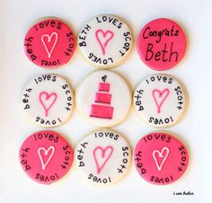 bachelorette one of a kind ideas | Bachelorette gift ideas, pink and white wedding sugar cookies, wedding ...