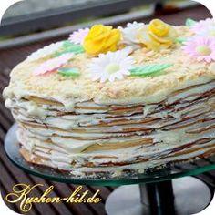 Rezept für eine ausgefallene Marcinek Torte, welche aus ca. 18 einzelnen Tortenböden besteht.