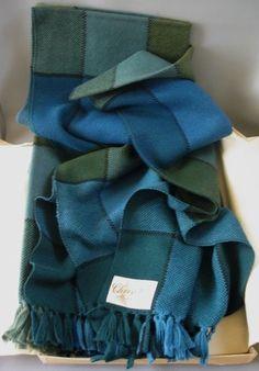 Churchill Weavers Blue-Green Hand-woven Throw or Blanket