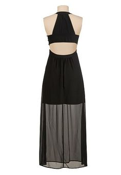 open back chiffon halter maxi dress Enjoy 20% Off