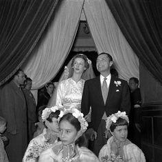Gianni Agnelli and Marella Agnelli's wedding.  Photo by Robert Doisneau.