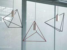 Inspired by Japanese rock gardens Kazuhiro Yamanaka designs a stunning series of minimalist lighting for Italian brand Pallucco, the Rock Garden lamps. Interior Lighting, Modern Lighting, Lighting Design, Apartment Lighting, Modern Lamps, Lighting Ideas, Led Pendant Lights, Pendant Lighting, Wire Lighting