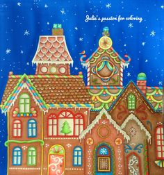Johannas Christmas VideosChristmas HousesJohanna Basford Coloring
