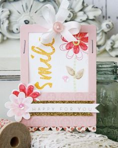 Happy For You Card by Melissa Phillips for Papertrey Ink (May 2014)