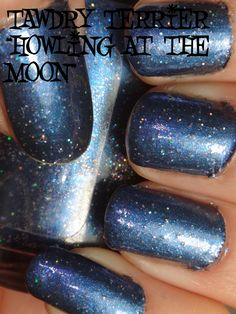 """@TawdryTerrier """"Howling at the Moon"""" in the sun - available at https://www.etsy.com/shop/TawdryTerrier #nailpolish #indienailpolish #tawdryterrier"""