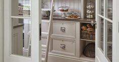So much storage in this amazing, fresh kitchen. - http://ciaonewportbeach.blogspot.com/2015/01/a-pantry-made-in-heaven.html