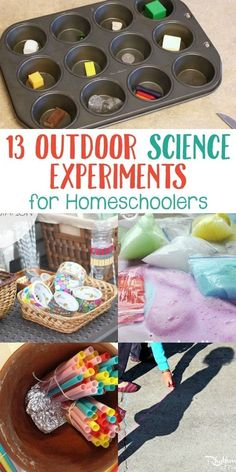 Are you looking for a fun science experiment that you can do outdoors with your kids or homeschool group? Then check out these 13 Outdoor Science Experiments For Homeschoolers! From learning about static electricity to making out-of-this-world rockets,