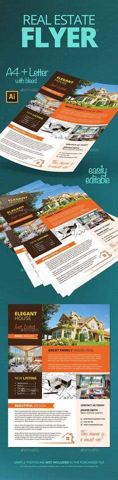 Real Estate Flyer PSD Template #design Download: http://graphicriver.net/item/real-estate-flyer/12716419?ref=ksioks