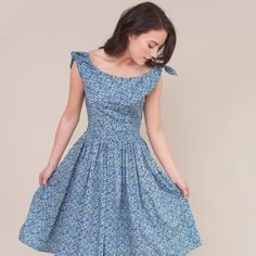 Vintage inspired floral Liberty print dress