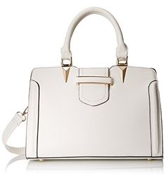 MG Collection Carys Tote Shoulder Bag White One Size >>> Details can be found by clicking on the image.