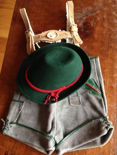 Vintage Lederhosen Shorts Suspenders Authentic by StylishPiggy, $58.00