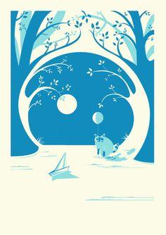 Secret Lives of Animals # 1 Raccoon - Steve Campion illustration graphic design screen prints Brighton UK