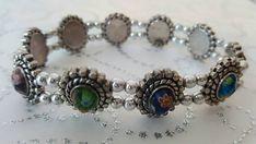 Rainbow Flower Glass Bead Double Strand Bracelet with
