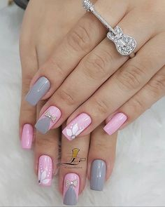 We have collected 2019 nail design in the most popular different colors for you. These nail models will suit you very well. We recommend that you apply one of the latest nail designs. Latest Nail Designs, Colorful Nail Designs, Toe Nail Designs, Cute Nails, Pretty Nails, Square Nails, Stylish Nails, Gorgeous Nails, Nail Manicure