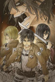 Tags: Anime, Pixiv Id 2552590, Shingeki no Kyojin, Mikasa Ackerman, Eren Jaeger
