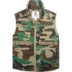 Woodland Camouflage Vest Youth