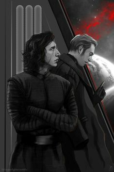I love how Kylo is looking into space. Probably thinking about Rey and her safety amid the fighting between the Resistance and First Order