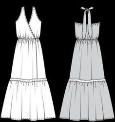 Сшить летнее длинное платье