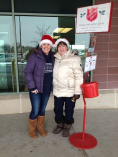 Cheryl and Marty Bell Ringing for the salvation Army...#givingback  #shoplocal