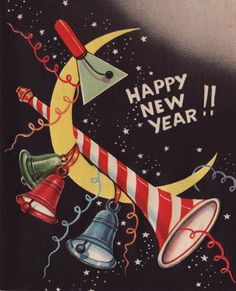 Vintage Happy New Year Card