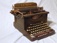 Antique Smith Corona Secretarial No 8 Typewriter Army Olive Green 10in Working | eBay