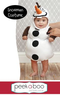 Snowman Costume - Peek-a-Boo Pattern Shop
