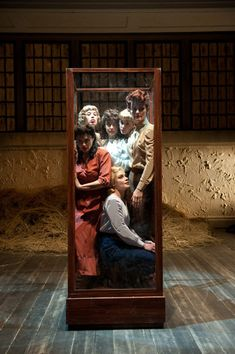 """Great example of how proximity and space can be used to create meanings, and develop physical theatre - especially when space is limited.  This image is from """"Le Signorine di Wilko"""" (The Maids of Wilko) written by Polish author, Jaroslaw Iwaszkiewicz and  directed by Alvis Hermanis, with scenography by Andris Freibergs. Produced by the Emilia Romagna Teatro Fondazione."""