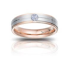 Lee Hwa Jewellery - Destinée Royale Wedding Band (Rose Gold)