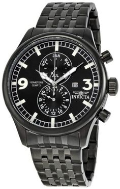 Invicta Men's 0367 II Collection Black Ion-Plated Stainless Steel Watch $64.99