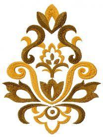 Ornament machine embroidery design. Machine embroidery design…