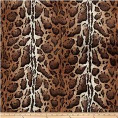 Tissavel Luxury Faux Fur Burmese Leopard Cocoa