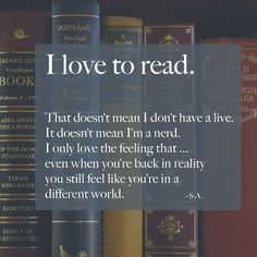 I love to read!!!!