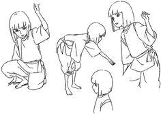 Resultado de imagen de miyazaki characters model sheet