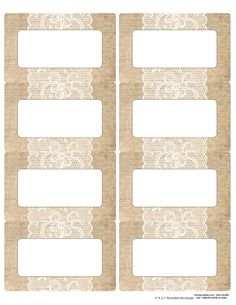 For thank you notes: Burlap-&-Lace-Labels-Rectangle-Blank2 printed on this label paper: http://www.onlinelabels.com/OL600.htm?search=ol600&st=s