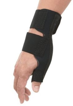 """Breg Universal Thumb Spica by Breg. $23.99. Interchangable flexible and rigid stays help provide the desired support and comfort. Indicated for thumb arthritis, tendonitis and De Quervain's syndrome. 1/8"""" perforated neoprene wrap around style."""