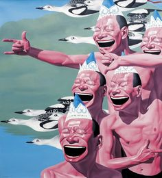 Yue Minjun / contemporary Chinese painter