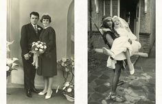 Vintage wedding pictures. The one on the right makes me laugh :D