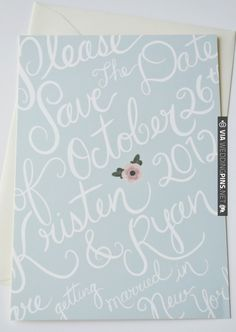 Custom Save the Dates posted by Loft Life Press | VIA #WEDDINGPINS.NET