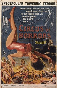 vintage horror movie poster:  circus of horrors 1960